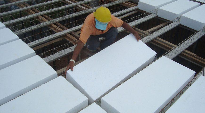 Uso de lajotas de EPS ( Isopor ®) na Construção Civil